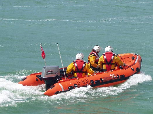 Spirit of Juniper lifeboat in action
