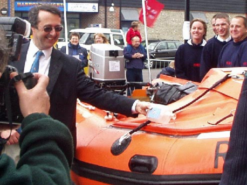 Naming ceremony, Spirit of Juniper lifeboat