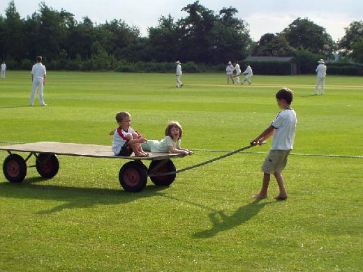 children at the CRG's 100th cricket match