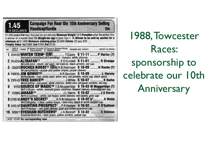 Racecard for Campaign for Real Gin 10th Anniversary Hurdle, Towcester