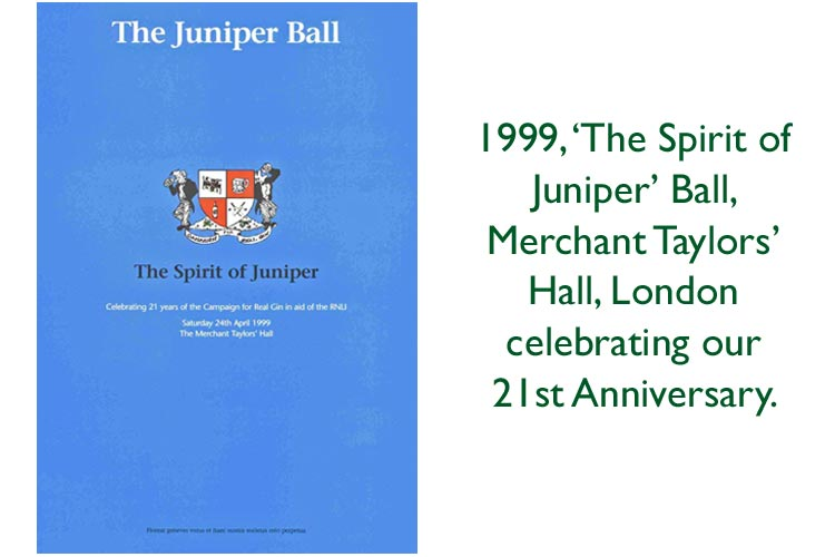 cover of 1999 Campaign for Real Gin 21st Anniversary Ball