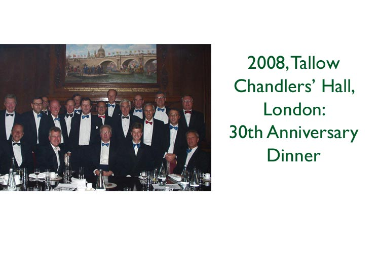 Campaign for Real Gin 30th Anniversary dinner