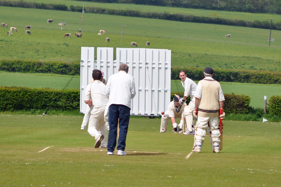 Action shot at Hambleden CC