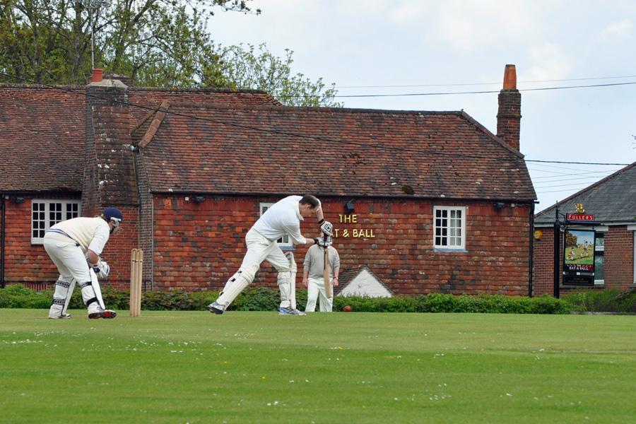 James Powell batting at Hambleden CC
