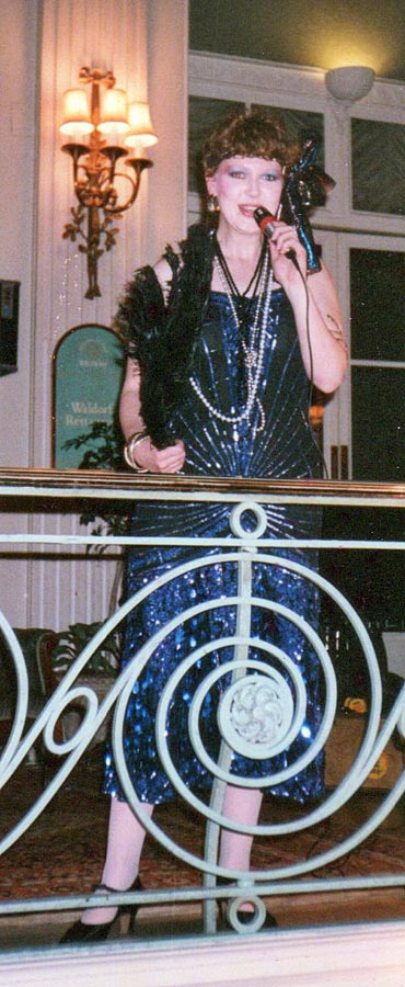 Singer at Campaign For Real Gin Juniper Ball Waldorf Hotel 1988