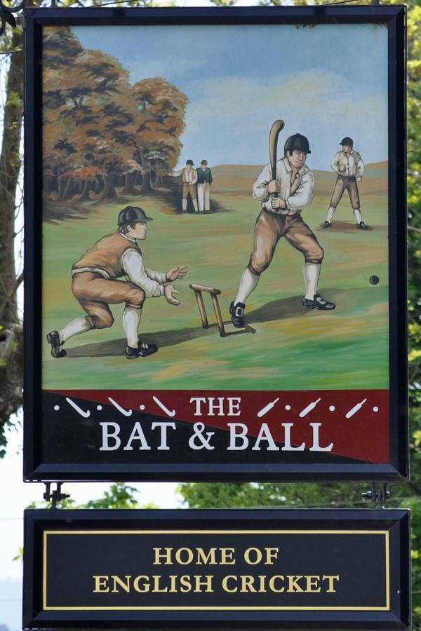 Bat and Ball pub sign, Hambleden