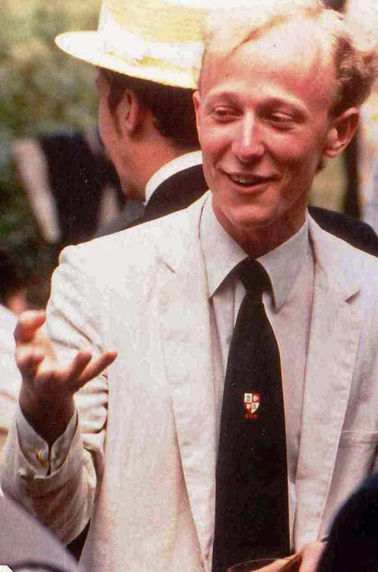 Anthony Trace at 1980 Campaign for Real Gin Garden Party