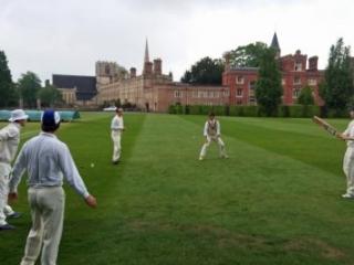 catching practice CRGCC vs UPCCC Jesus College Cambridge 2018
