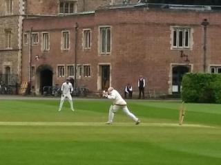 Richard Wyse bowled CRGCC vs UPCCC Jesus College Cambridge 2018