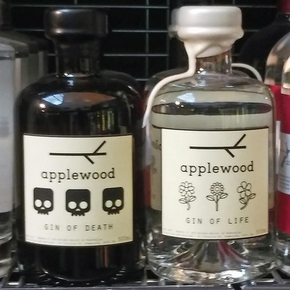 Gins of Life and Death in Tasmanian bottle shop
