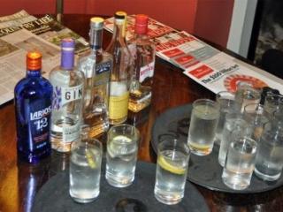 gins consumed at CRGCC dinner at University Pitt Club Cambridge