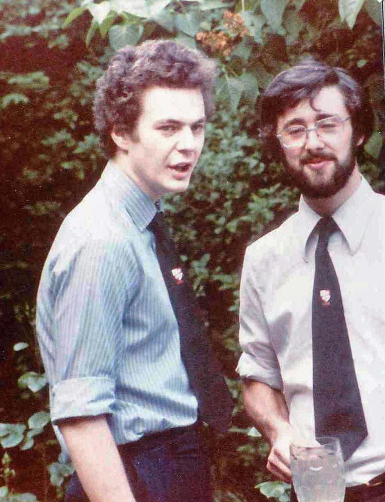 Mike Campbell and Nick Ellis at 1980 GRG Garden Party