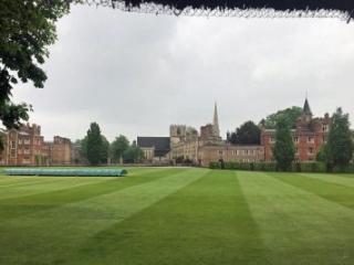 cricket pitch at Jesus College Cambridge