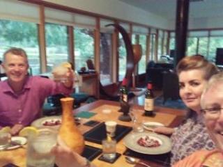 Jane and Graham Hyland, Lynne and Robert Gibson at Kaoota Tasmania