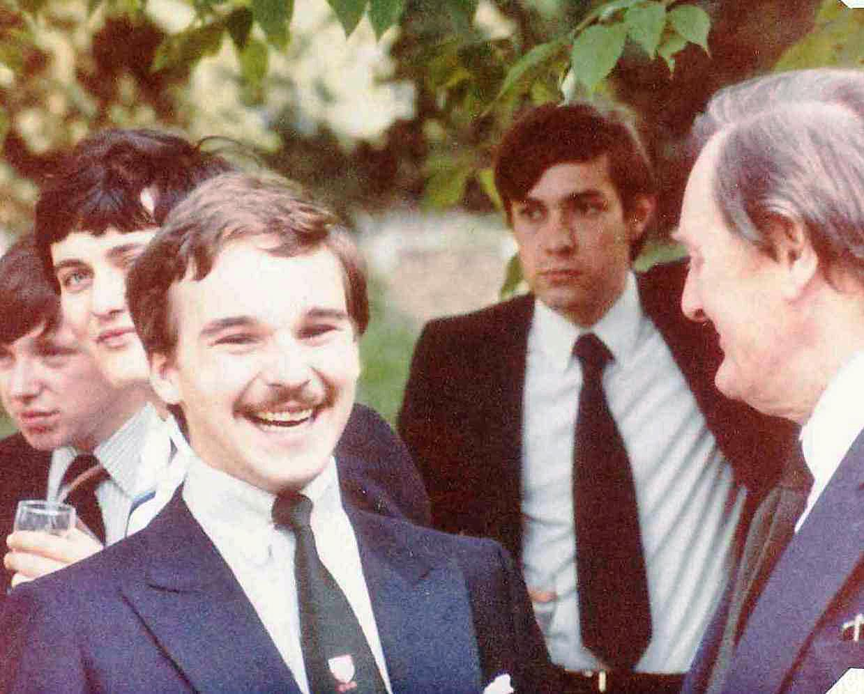 David Pritchard at 1980 Campaign for Real Gin Garden Party