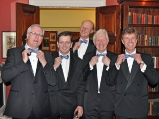 first outing for CRG 40th anniversary ties, University Pitt Club Cambridge