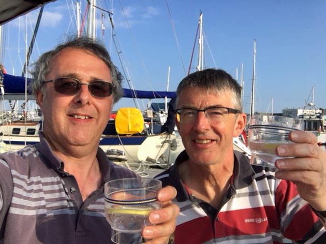 Nick and Dave Ellis celebrate World Gin Day in Falmouth