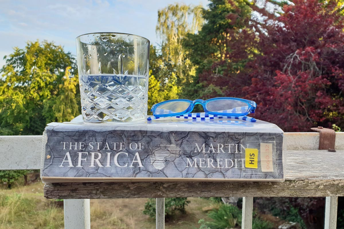 Roaring Forties gin with summer evening reading