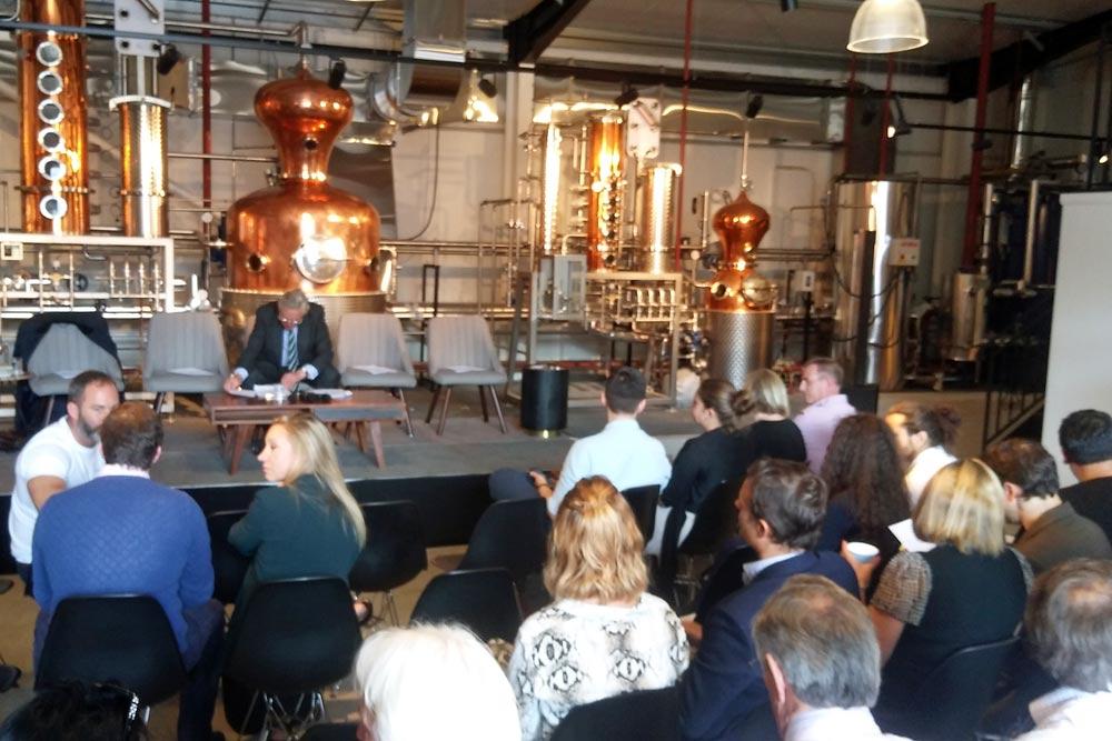 Audience at Haymans Fake Gin debate