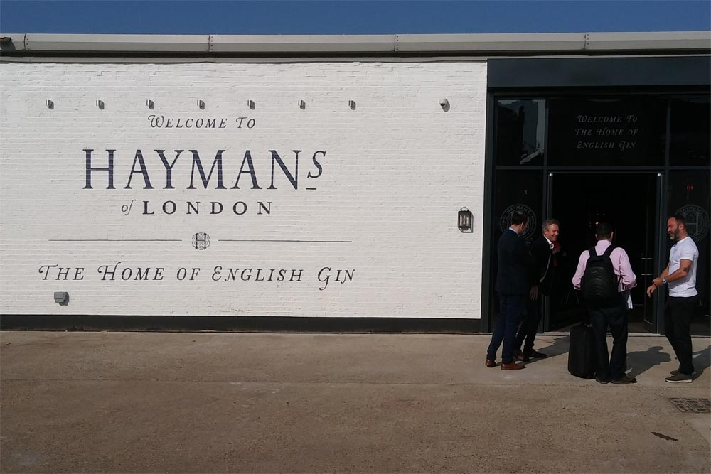 entrance, haymans gin distillery, balham, london