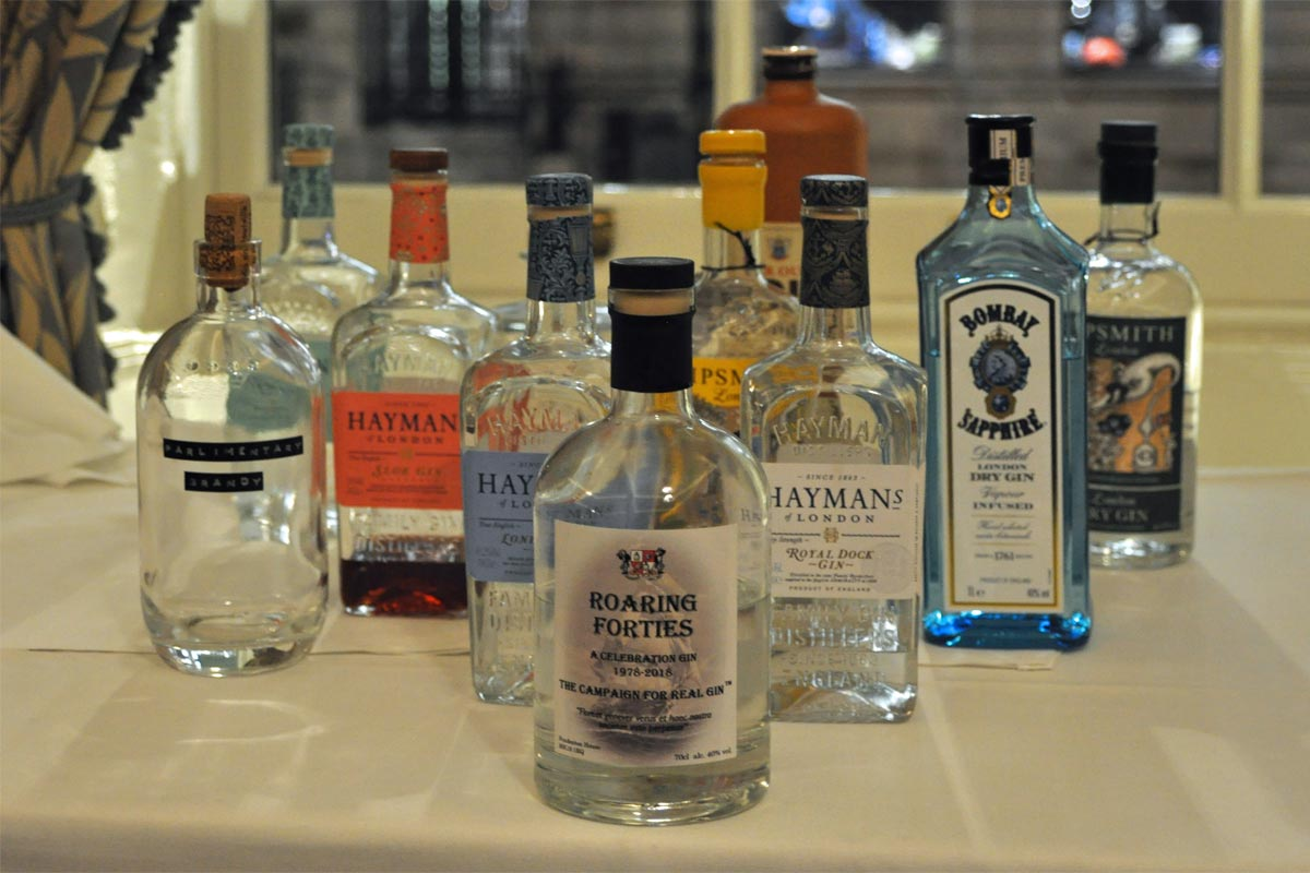 Campaign for Real Gin Roaring Forties gin, Athenaeum Club, London, November 2018