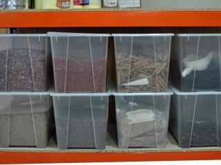 Botanicals in storage at Real Gin, Pegoes