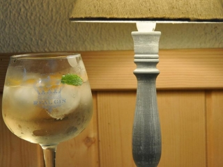 Enticing glass of Real Gin aged