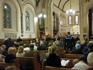 Inside St George's Church Lisbon for Remembrance Day service