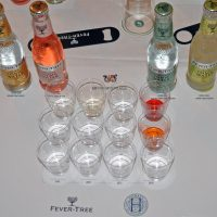 12 gins awaiting tasting, Athenaeum Club