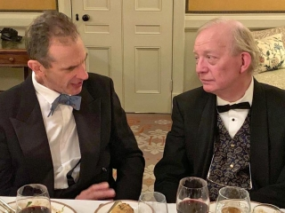 Dick Cawley and Alex Hunt, Campaign for Real Gin annual dinner 2018