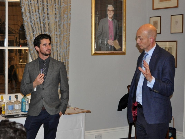 John Jeyes and Chris Bryant-Maxwell, Campaign for Real Gin tasting, Athenaeum Club November 2018