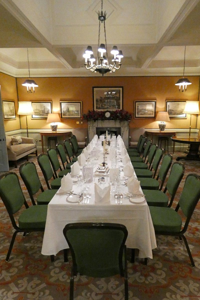Room set for Campaign for Real Gin annual dinner, Boodles 2018