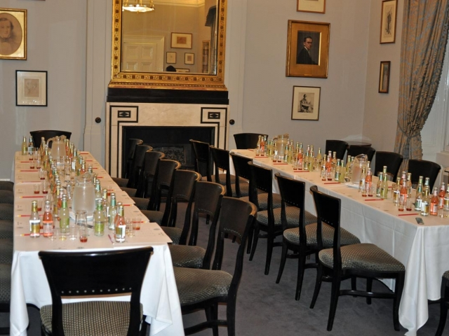 Tables at the ready, Campaign for Real Gin tasting, Athenaeum Club November 2018
