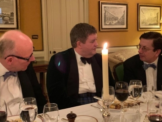 Tony Trace Oliver Wise and guest Campaign for Real Gin dinner 2018