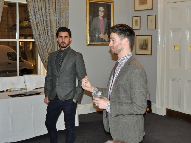 James Mowbray and Chris Bryant-Maxwell, tutors, Campaign for Real Gin tasting, Athenaeum Club November 2018