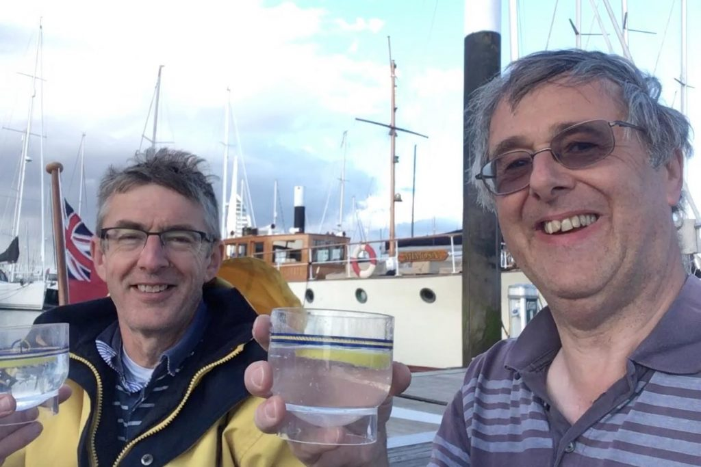 Nick and Dave Ellis on Roaring Forties gin World Gin Day 2019