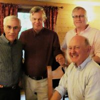 Marvin Faure, Steve Marriott, Nigel Hall and Robert Gibson, Campaign for Real Gin members at Divonne-les-Bains, 2019