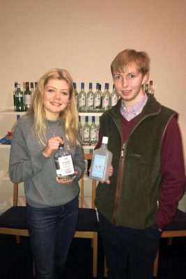 Fellow Edinburgh students with Campaign for Real Gin gins